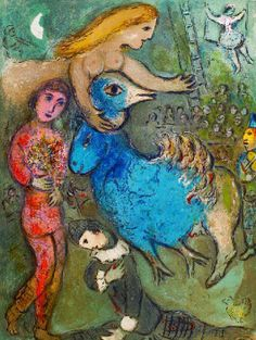 Marc Chagall 1887-1985 | Le Cirque, Paris 1967