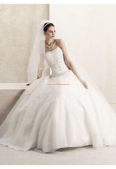 Robe de mariée 2011 à bustier broderie organza