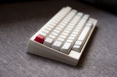 Happy Hacking Keyboard Pro 2 with red Esc key. HHKB