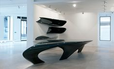 'Liquid Glacial' tables by Zaha Hadid at David Gill Galleries, London | Design | Wallpaper* Magazine