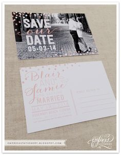 Jamie and Blair Save the Date