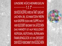 """Kunstdruck  """"KÜCHENREGELN"""""""
