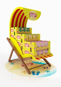 Lays pallet - recliner on behance pop display, shop display stands, display ads, Shop Display Stands, Pos Display, Counter Display, Display Design, Booth Design, Banner Design, Point Of Sale, Point Of Purchase, Pos Design