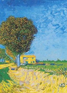 Van Gogh -  A Lane near Arles (Side of a Country Lane) 	Arles, May 1888 Medium	oil on canvas-