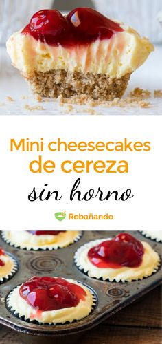 Un bocadito delicioso, fácil y rápido para cuando nos apetece algo dulce... Mini Cheesecakes, Christmas Desserts, Kitchen Recipes, Cake Decorating, Muffins, Deserts, Cupcakes, Sweet, Food