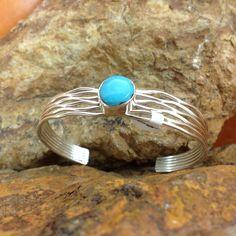 Navajo Kingman Turquoise Sterling Silver Bracelet