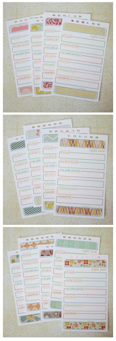 Right Now Page - free printable- great idea to include in PL or as separate mini album - Monika Wright