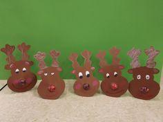 Rudolf mit der roten Nase (Nase ist ein roter Lolly)