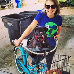 #puglove - looks like Ty has a firm grip on the buddyrider situation