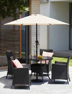 rimini garden furniture companion set with parasol at. Black Bedroom Furniture Sets. Home Design Ideas