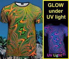 rave psychedelic t-shirt Glow under UV black light por RaveDesign