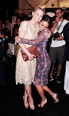Jennifer Morrison & Sophia Bush Get Their Fashion Fix with Monique Lhuillier!: Photo Sophia Bush is all smiles at designer Monique Lhuillier's fashion show during Mercedes-Benz Fashion Week Spring 2015 on Friday evening (September in New York… Once Upon A Time, Queen Of Everything, Jamie Chung, Jennifer Morrison, Monique Lhuillier, Celebs, Celebrities, Classy And Fabulous, Peplum Dress