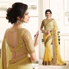 New wedding indian saree saris india Ideas Saree Blouse Neck Designs, Fancy Blouse Designs, Saree Blouse Patterns, Sari Design, Dress Indian Style, Indian Wear, Stylish Blouse Design, Sari Dress, Blouse Models