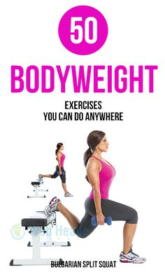 50 Bodyweight Exercises You Can Do Anywhere.#fitness