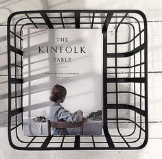 Metal kurv - frame basket available in 3 sizes from Louise Roe. Danish Design Shop online at www.houseofbk.com
