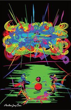 Wirehead Live Black Light Poster by AmberJoyLiemArtShop on Etsy