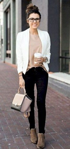 Trendy business casual work outfit for women (7)