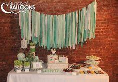 Mint Green Dessert Table - Baby Shower - Bunch of Balloons