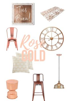 how to decorate with rose gold