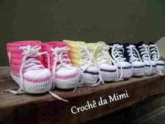 Sapatinhos para bebe, All Star - Booties for baby made in crochet