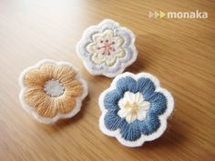 Embroidery Works, Embroidery Patterns Free, Embroidery Jewelry, Ribbon Embroidery, Cross Stitch Embroidery, Textile Jewelry, Fabric Jewelry, Textiles, Diy Broderie
