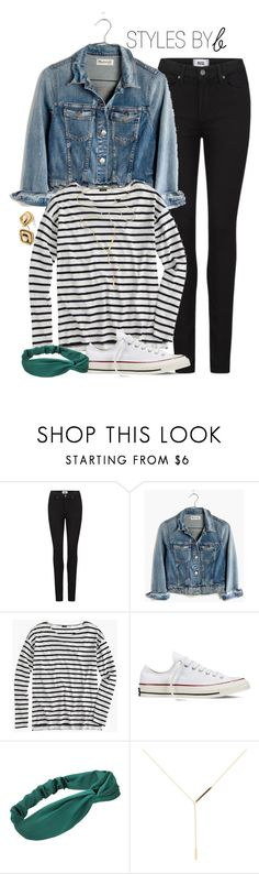 """""""Untitled #718"""" by bryanaellen ❤ liked on Polyvore featuring Paige Denim, Madewell, J.Crew, Converse, Jennifer Zeuner and Chico's"""