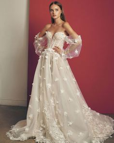 33 Off The Shoulder Wedding Dresses To See And Fall In Love ❤ #weddingforward #wedding #bride #weddingoutfit #bridaloutfit #weddinggown