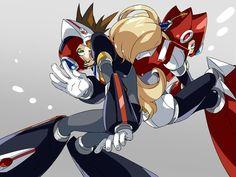 Axl and zero - megaman X 7 first team ^^ Akira, Video Game Art, Video Games, Maverick Hunter, Megaman Zero, Megaman Series, Fighting Robots, Fanart, Saga