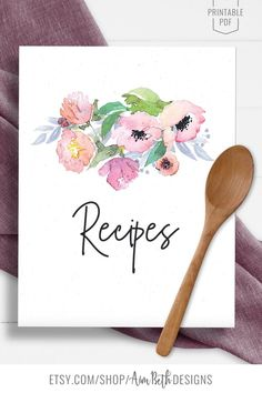 Printable Recipe Binder Kit Recipe Cover Page - #recipebinderkit #recipekit #cookbook #recipeorganization #recipebook #cookbookorganization #printable #watercolorflorals #watercolor #flowers #diycookbook #diyrecipebook #familycookbook #familyrecipebook #cooking #baking #food #recipebinder #diy #printable #digitaldownload #recipe #recipecoverpage #cookbookcover Frozen Birthday Invitations, Frozen Birthday Party, Baby Shower Invitations, Girl Birthday, Cookbook Organization, Book Binder, Recipe Sheets, Recipe Cover, Kit