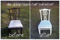 diy: dining room chair makeover