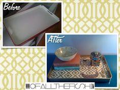 David Hicks La Fiorentina painted tray via Ofallthefish.com (DIY, Before + After)