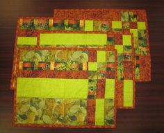 Grayce made these HUGE placemats for her daughter, who sent her the fabrics. Perfect for a New Mexico dinner table.