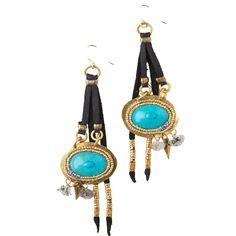 cosmic eye turquoise earrings | de petra