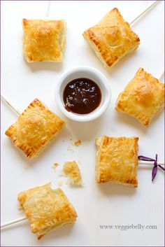 Sweet Potato Samosa Pops! If you aren't a fan of sweet potato you can always use the stand-by green pea or potato version-- simple to make and wonderful for holiday parties!