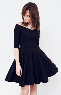 Sukienka Czarny | Ona Sukienki Sukienki koktajlowe