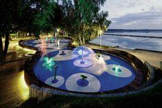Beautiful Lighting Small Water Playground