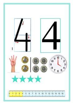Monografia liczb Kindergarten Math, Teaching Math, Teaching Resources, Maths, Math Games, Preschool Activities, School Frame, Math For Kids, Kids Learning