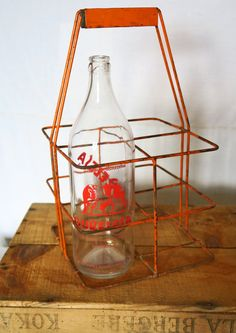 Authentic french bottles carrier from the 1910s,