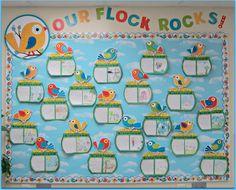 Sunny Days in Second Grade: Boho Birds Bulletin Boards! #bohobirds #carsondellosa Our Pre-K Flock Rocks!
