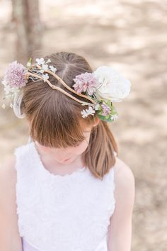 This flower girl crown was handmade by my mom. It's the personal touches that always mean the most!