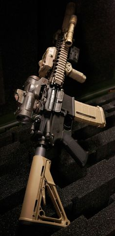 Awesome ar with a specter dr with and a doctor sight and magpul stock