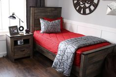 Boy bedroom decor hacks, An excellent home design tip will be consistent to how you're designing an area. You need to choose the complete theme in order for your room to be able to have everything mesh together. Teen Boy Bedding, Sports Bedding, Red Bedding, Simple Bedroom Design, Boys Room Design, Bed Linen Design, Bedding Sets Online, Luxury Bedding Sets, Zara Home