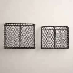 Crafted in India of iron wire with an antique finish, these baskets feature a wonderful, antique appeal. >> #WorldMarket Home Office