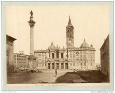 Italie, Roma, Facciata Di Santa Maria Maggiore  Vintage Albumen Print.   Tirage Albuminé   20x25   Circa 1880 - Foto