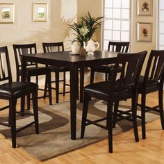 Found it at Wayfair - Leal 7 Piece Counter Height Dining Set