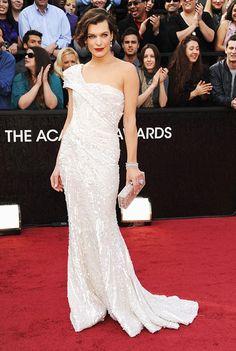 Milla Jovovich at the Oscars in Ellie Saab