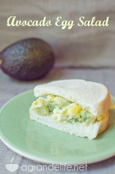 Avocado Egg Salad- something to do with all those eggs!