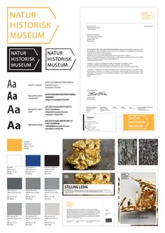 Visual profile - Natural History Museum, Bergen by Andrea Karlsen, via Behance