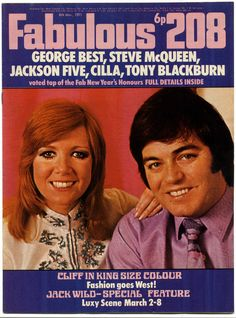 Fabulous 208 Magazine, March 1971 (Cilla Black and Tony Blackburn)