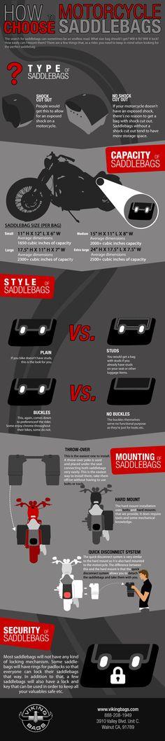 How To Choose Motorcycle Saddlebags Infographic - #Vikingbags @Vikingbags